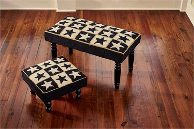 Black Star Hooked Stool, Park Designs by Park Designs