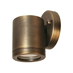 Best Quality Lighting LV91AB Brass Constructed Outdoor Wall Mount with Clear Glass Shade, Bronze Finish