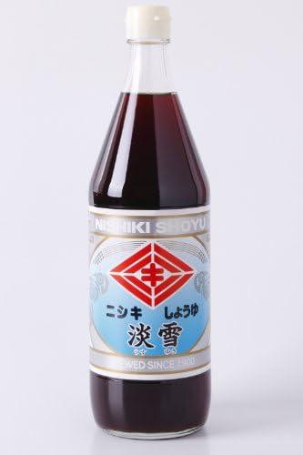 ニシキ醤油 淡雪印 混合しょうゆ JAS 上級 うすくち 900ml