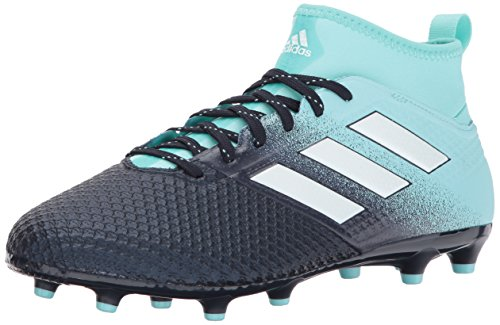 adidas Men's Ace 17.3 Firm Ground Cleats Soccer Shoe, Energy Aqua/White/Legend Ink, (10.5 M US)