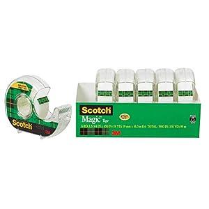 Scotch Magic Tape pack of 6