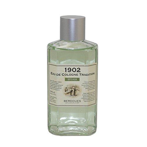 Berdoues 1902 Vetiver Eau de Cologne Tradition Splash for Women, 16 Ounce