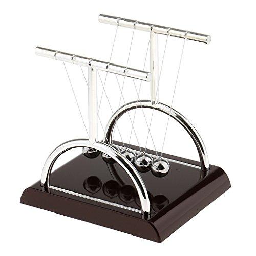Dovewill Juguete de Bolas de Equilibrio Cuna de Newton en Forma de T Adornos de Mesa Escriotorio de Oficina Casa