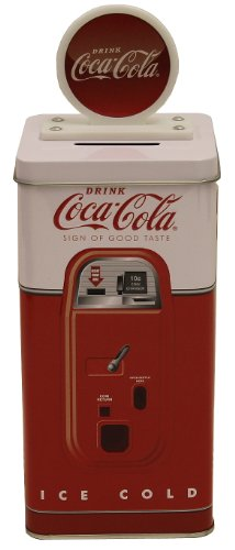 The Tin Box Company Coca Cola Tall Beverage Machine (Machine Bank)