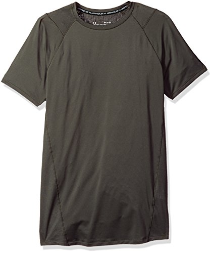 (Under Armour Men's MK-1 Short Sleeve Shirt, Nori Green (952)/Stealth Gray, Small)
