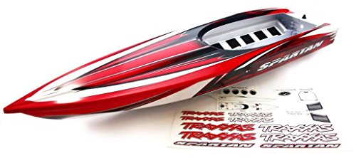 Traxxas Spartan VXL6S Boat RED BLACK & WHITE HULL - HATCH Tub Chassis