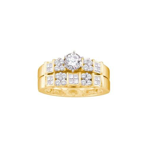 1.00CTW DIAMOND LADIES BRIDAL SET WITH 0.40CT ROUND CENTER (0.4 Ct Center Round)