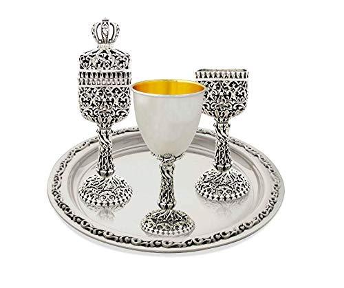 925 Sterling Silver Filigree Havdallah Set by Avi Nadav