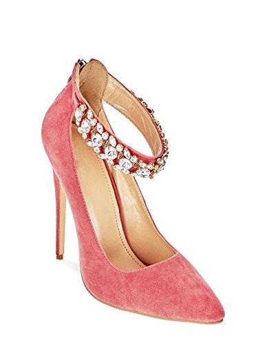 3 Rosa Alto Alla Diamante Sandals Shoes Tacco Party Ladies Caviglia Womens 8 Cinturino Secret qgUwPpHg