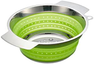 Rösle RS16126 - Escurridor plegable de acero y silicona (24 cm), color verde