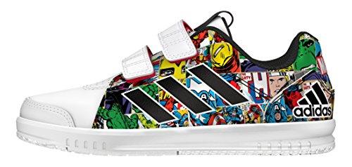 adidas Lk Marvel Cf C, Zapatillas de Deporte para Niños Blanco (Ftwbla / Negbas / Rojint)