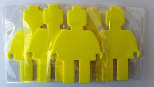 Lifetime Inc Coolest Mini Figure Shape Cutout Self-Stick Notepads - Bricks or Building Blocks Theme