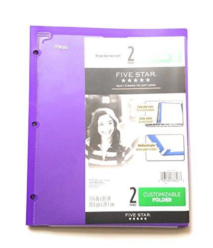 Mead Customizable 2 Pocket Poly Folder Purple