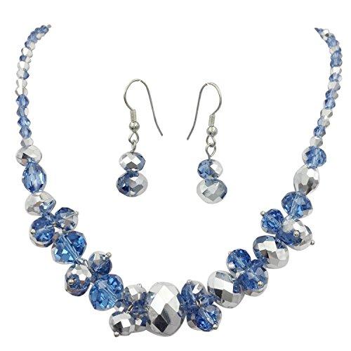 Wood Bead Necklace Earrings - 8