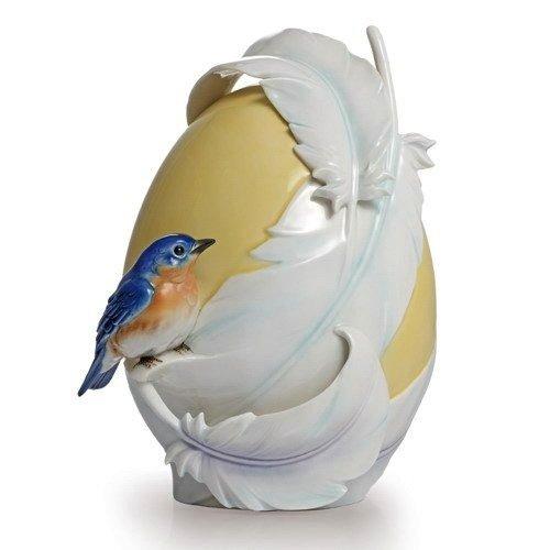 Franz Porcelain Bluebird Vase FZ02147 by Franz