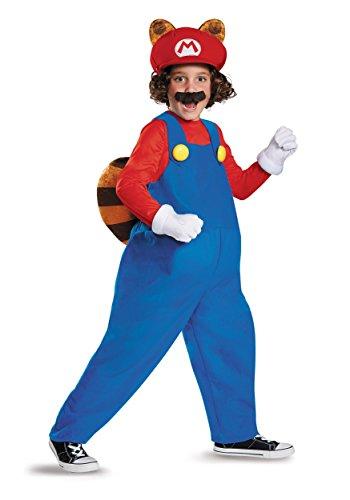 Mario Raccoon Deluxe Super Mario Bros. Nintendo Costume, -