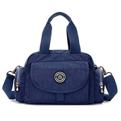 Top Nylon Resistant Girls Shoulder Satchel Navy Lightweight Handle Blue Water TianHengYi Purse Handbag Crossbody dwXqEnIIx