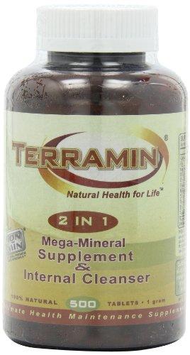 Ion-Min, Terramin 2 in 1, Mega-Mineral Supplement & Internal Cleanser Tablets, 1-Gram, 500-Count (Terramin Montmorillonite Clay)
