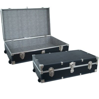 Under The Bed Storage Trunk with Wheels (Black) by Seward Trunk