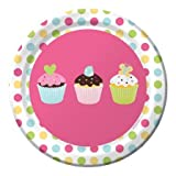 Creative Converting Sweet Treats Round Dessert Plates, 8 Count, Health Care Stuffs