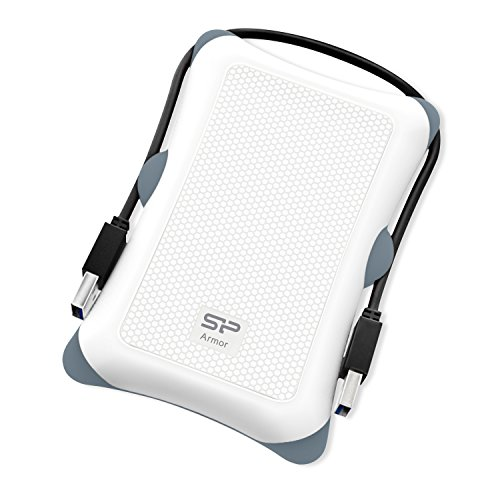Silicon Power 2TB Rugged Armor A30 Military Grade Shockproof USB 3.0 2.5 Inch for PC,  PS4 Pro and PS4 Slim, White by Silicon Power (Image #1)