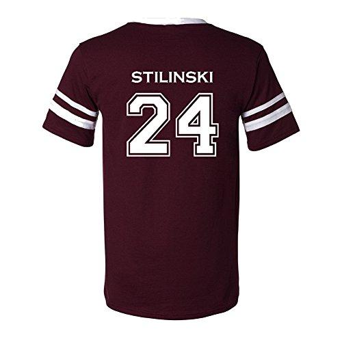 Adult Teen Wolf Beacon Hills Stilinski 24 2-Sided Jersey Small Maroon -
