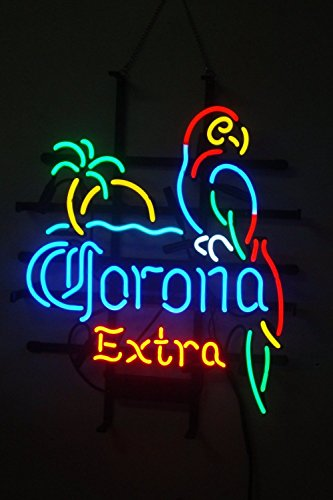 "Corona Extra Parrot Bird Left Palm Tree LARGER Neon Sign20""x"