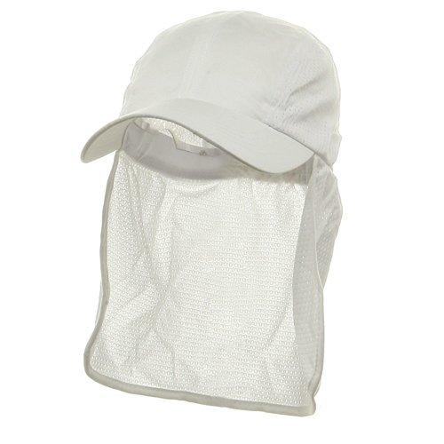 Mesh Flap Hat - Flap Hats (01)-White OSFM