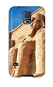 CaseyKBrown Scratch-free Phone Case For Galaxy S5- Retail Packaging - Abu Simbel Temples Egypt