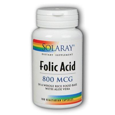 SOLARAY Фолиевая кислота капсулы, 800mcg, 100 Граф