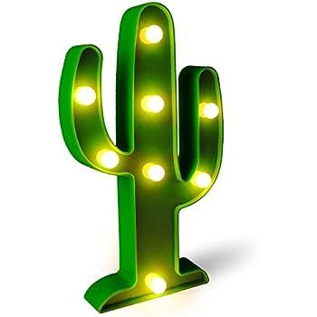 amazon com yiamia led cactus light cute night table lamp light for