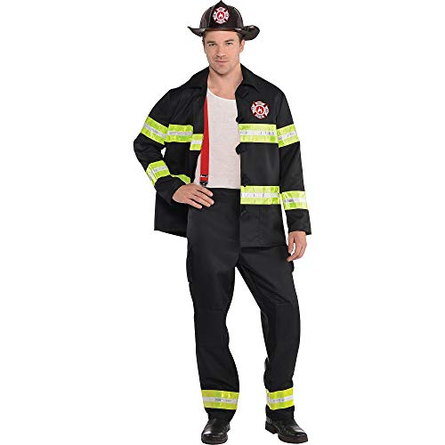 amscan Adult Rescue Me Firefighter Costume - Medium (40-42), Multicolor]()