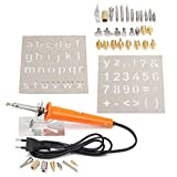 37Pcs 110V Wood Burning Pen with Tips and Stencils Craft and Hobby Kit - Electrical Soldering Tools Pyrography Tools