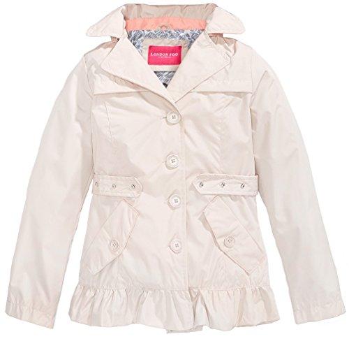 London Fog Girls' Single Breasted Trench Coat (Khaki, 10/12)