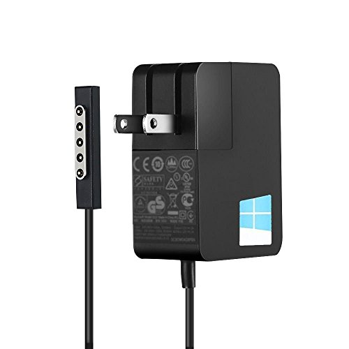 Surface AC Adapter Charger 24W 12V 2A for Microsoft Surface RT Surface Pro 1 Pro 2 and Surface 2 1512 1514 1536 Laptop Tablet Power Supply by tesha