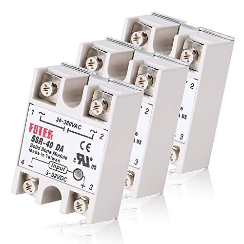 MYSWEETY 3PCS SSR-40DA Solid State Relay Single Phase Semi-Conductor Relay Input 3-32V DC Output 24-380V AC