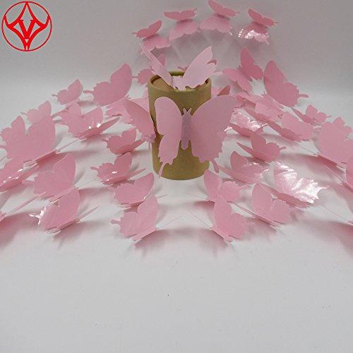 48 PCS Multi-color 3D DIY Butterfly Removable Decorations Mu