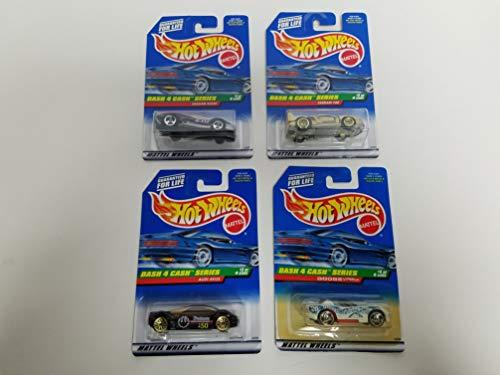 1998 Dash 4 Cash Set of 4 Hot Wheels 1/64 Diecast Cars no. 721 722 723 724