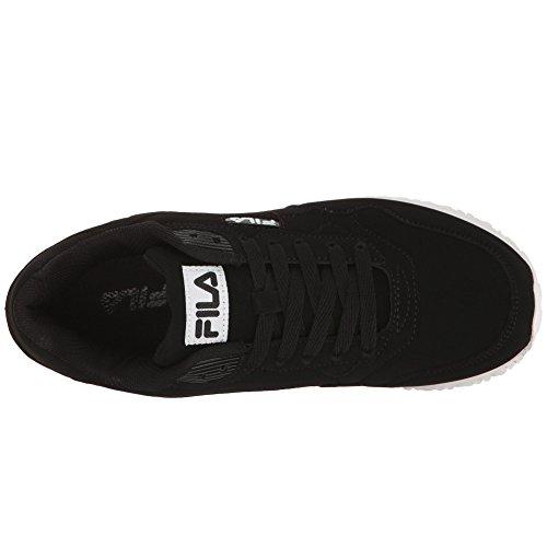 Fila Women's Cress Walking Shoe Black, Black, White