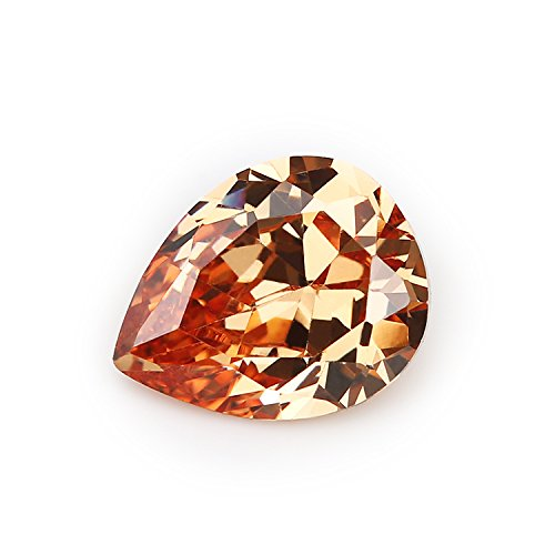 Zirconia Champagne Color Cubic Stone (50PCS Size 3x5~13x18mm AAAAA Champagne Pear Shape Loose Cubic Zirconia CZ Stone For Jewelry Diy (3x5mm 50pcs))