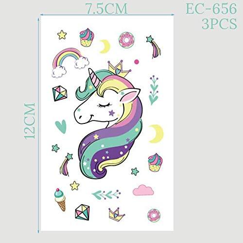 4-20 Niños Cumpleaños Juego De Vajilla Desechable Unicornio ...