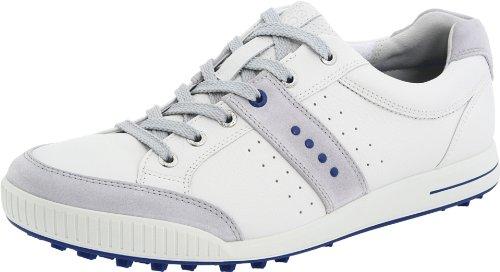 (ECCO Men's Street Premiere Golf Shoe,Concrete/White,46 EU/12-12.5 M US)