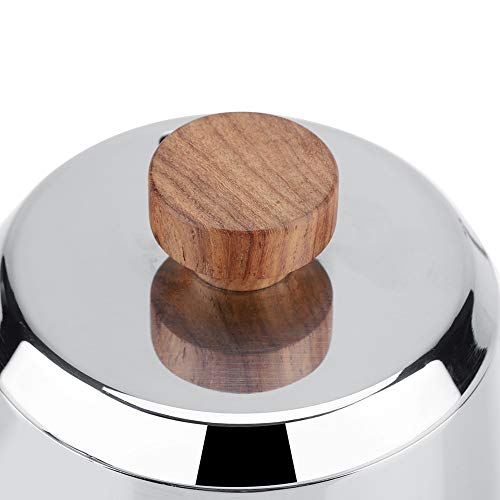 Drip Coffee Pot Kettle Stainless Steel Gooseneck Spout Wooden Handle for Home Office Gift(600ml/350ml) (350ML)