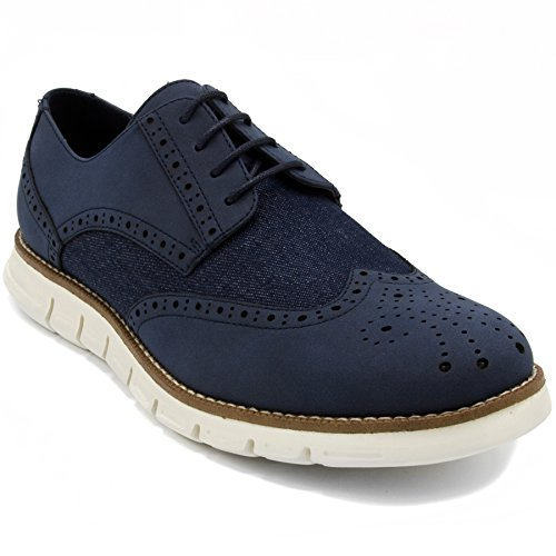 Nautica Men's Wingdeck Oxford Shoe Fashion Sneaker Navy Denim-9.5