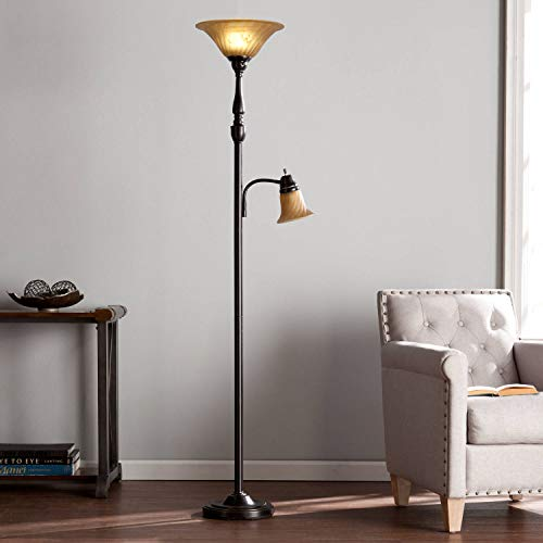Kellum Transitional Style Floor Lamp, Black by Aromzen