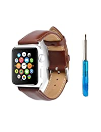Minisuit Genuine Leather Band for Apple Watch Edition 42mm (Brown)
