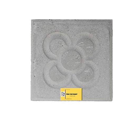 Baldosa Panot Flor Barcelona. Pieza Original fá brica de 20x20x4 Cemento Natural.