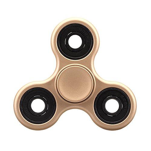 Balai Fidget Spinner Tri-Spinner Toy Stress Reducer Ceramic Bearing Relieve Anxiety and Boredom-Gold