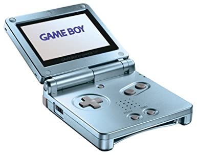 Amazon Com Game Boy Advance Sp Pearl Blue Renewed Video Games