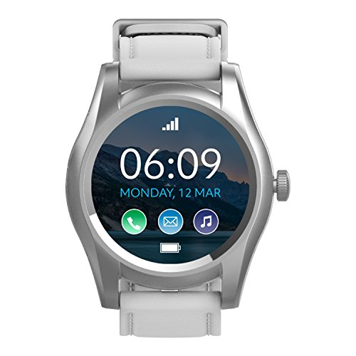 BLU X Link – Smartwatch compatible with Android and iOS -Silver